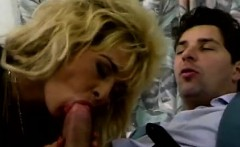 Blonde Spanish MILF gets nasty devouring a meaty cock