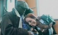 redhead from sweden being naughty in public