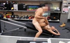 Ebony gym trainor twat pounded at the pawnshop for money