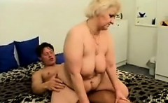 Fat Russian Granny With Blonde Hair Fucks