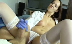 German MILF Nurse helps patient with perfect Handjob