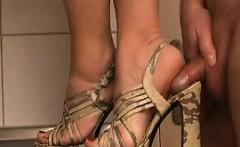 Sexy Feet Abusing Some Guys Hard Cock
