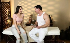 Hot client Alexis Rodriguez pussy screwed by her masseur
