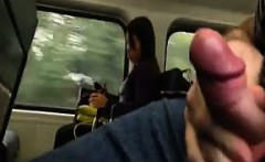 flashing and orgasming in public on a train