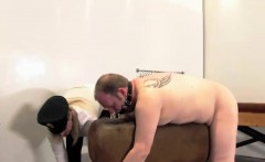 Mature dominatrix drilldo fucks subs asshole