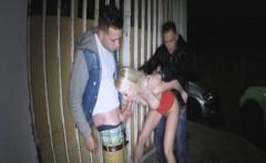 Insane outdoor public sex on street
