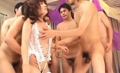 Kana Shimada has mouth and vagina screwed by men in hot