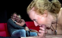 Two german Amateur Couples start Fuck in Pornocinema