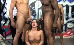 Maddy O'Reilly Sucks A Group Of Black Cocks
