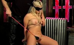 Big tits blonde bound and blindfolded te - Date her on DOM-M