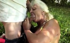 horny granny get fucked in the garden   fuck from milf meet.