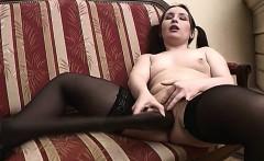 Pigtailed Horny Teen Masturabating Pussy Insertions