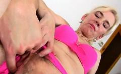 Horny boy is stretching hairy cunt of amateur mom Maya