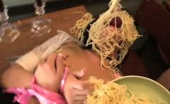 Helpless Slut Sadie West Bathes In Food And Jizz