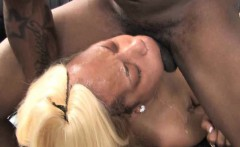 Bleached Blonde Black Ghetto Slut Face Fucked By White Guy