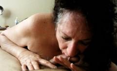 Older Woman Sucks Cock - Homemade Mature