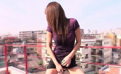 Asian cuttie pie getting toy fucked by herself