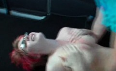 Round ass teeny fucked hard in the sex bus