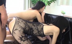 Cute oriental receives raucous toying for her cunt and anal