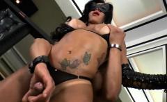 Big juggs shemale Natalia Gomes and a guy anal fucking