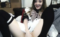 Hot Teen Cosplay Pussy Rub on Webcam
