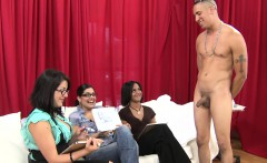 Clothed women shown cocks to rate