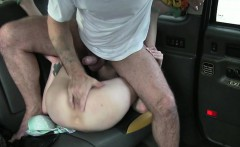 A hottie blonde gives the driver a hardcore sex