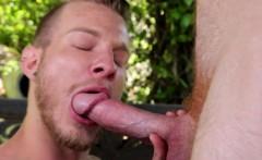 Redhead hunk outdoors fucking tight ass