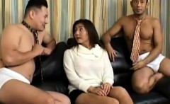 Oriental stunner gets fingered and rammed