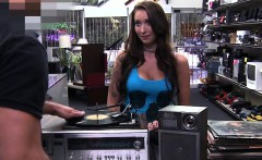 Brunette Barista Sold her pussy instead of her Records