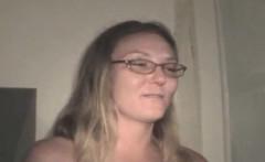 Older Blonde Crack Whore In Glasses Sucking Dick POV