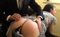 Submissive brit spanked over the knees