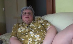 Brunette Gets Pleased By Granny