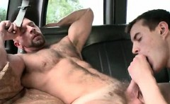 Naked studs having gay anal sex in boys bus