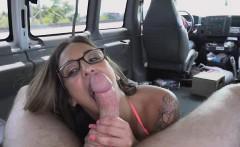 Big Titty Blonde Riding Dick In Backseat Of Bang Bus