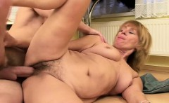 Granny furry pussy spooned