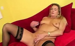 Serious milf raunchy solo