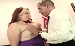 Sexy BBW secretary seduced and fucked the president himself
