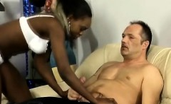 rough african beauty opens her mouth wide for a thick white