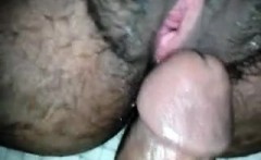 Hairy pussy gets hammered POV-style