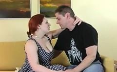 curvy chubby redhead fucks in high heels