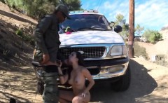 Sexy Latina teen bribes a border officer with her pussy