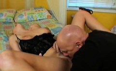 stacked blonde housewife surrenders her hairy peach to her hung lover