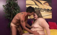 Voluptuous Jessie sucks on a hard dick and spreads her legs to get her juicy snatch licked