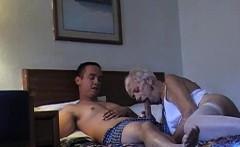 70 yr-old granny with 20 yr-old stud