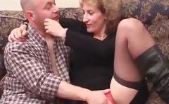 Blonde mature gets cunt teased