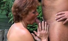 Cock-hungry mature woman bends over to have her firm ass slammed