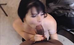 Hot MILF Loves Sucking Husband Black Dick