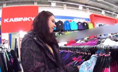 Luscious czech kitten was tempted in the shopping centre and