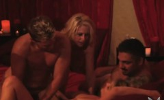 Slutty blondes enjoying hardcore swinger orgy